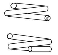 Пружина передняя (6 витковая)