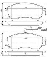 Тормозные колодки Renault Master III, Movano B