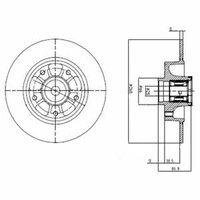 Тормозной диск (задний) с подшипником