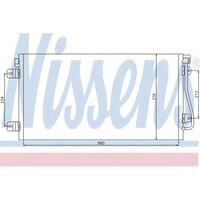 Радиатор кондиционера 1.9dci/dTi, 2.2dci, 2.5dci